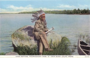 Chief Neptune of the Passamaquoddy tribe.