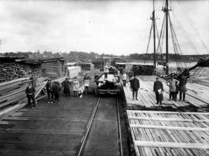 The docks of Calais were often brimming with lumber.