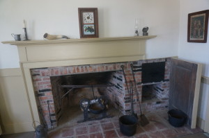 The kitchen fireplace has been restored with many of the 18th century bricks kept intact.