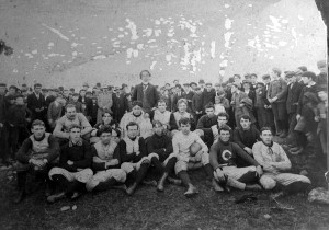 A late 1800s football or rugby club team from Calais.
