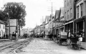 Water Street in St. Stephen, N.B. after 1895 but before the arrival of cars.