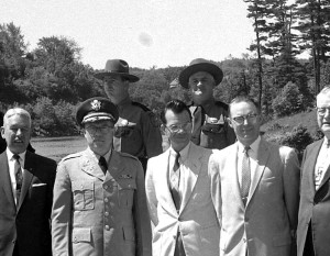 Bull Powers can be seen here in the back row on the left. Governor Reed is in front, as is city attorney Francis Brown. This is a photo from Frontier Week in 1961.