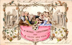 1843 First color Christmas card, very rare