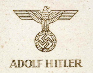 1943 Hitler Christmas card front