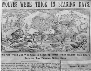 Wolves allegedly attacking Airline stage 1860's