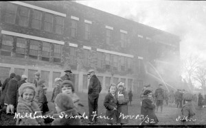 1932 school fire in Milltown NB