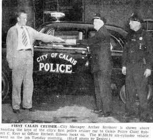 Calais gets 1st police cruiser  Aug 11 1951
