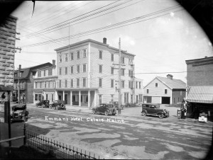 Emmans Hotel on Main Street, photo taken from Collin's Boarding Home