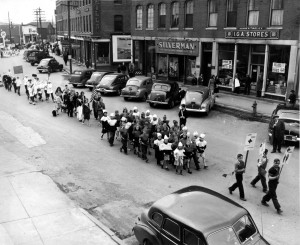 Blood Drive on Main St 1948, Silverman's IGA Todd's Hardware. Croix Hotel