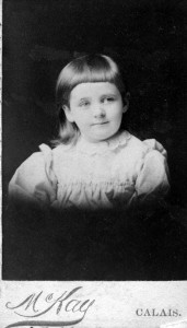 Emma as a little girl