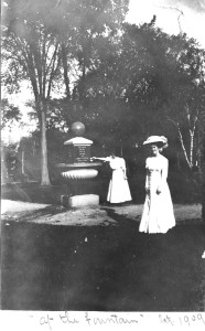 Emma shown in Memorial park; she would have been attending Boston School of Art at this time
