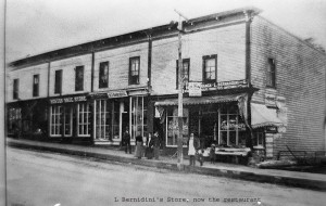 Bernardini Block, Boston Shoe Store, H  F Ramsdell
