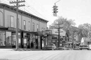 Main Street in the 1950's Boston Shoe, Sears