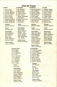 1954 rosters
