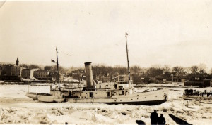 Ice breaker on the St Croix 1934.
