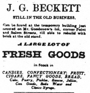 Beckett ad from 1871