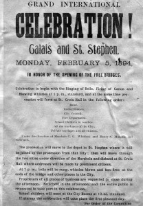 1894 free bridge opening