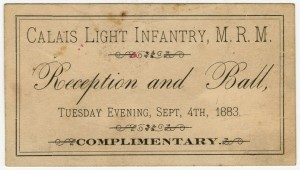 Calais Light Infantry Ball 1883