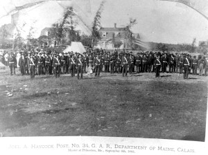 Haycock Post of GAR parades at Princeton 1883