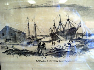 porter built ships and arranged passage during the gold rush