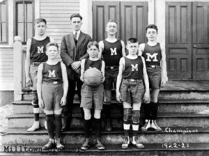 Basketball Team Milltown Grammar 1922-23