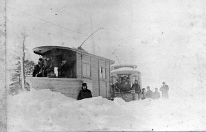 Plowing the Street car Tracks