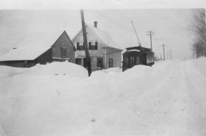 Streetcar snowbound