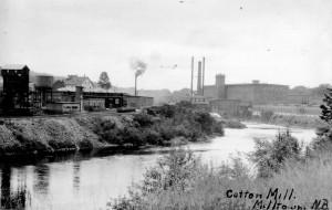 US railroad yard below Knight's Corner, Cotton Mill