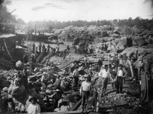 prospecting for gold 1852 california