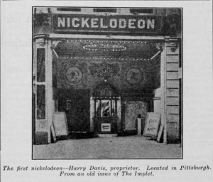 NickelodeonEntrance first movie theatre pittsburg