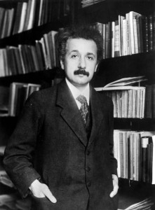German born mathematical atomic physicist Albert Einstein (1879 - 1955).  (Photo by Topical Press Agency/Getty Images)
